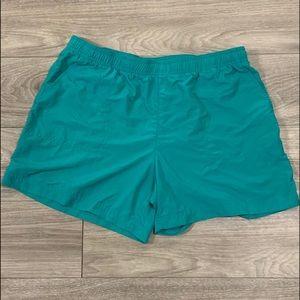 Columbia Teal Activewear Shorts